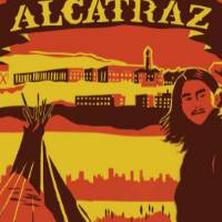 This poster celebrates the occupation of Alcatraz island from November 1969 to June 1971 by a coalition of American Indian students and urban Indians of All Tribes.